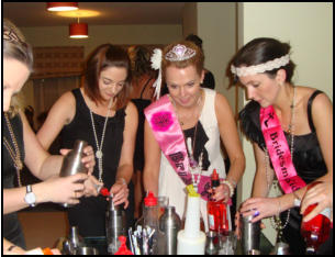 bachelorette party mixology class Quebec