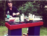 garden party cocktail bartender hire